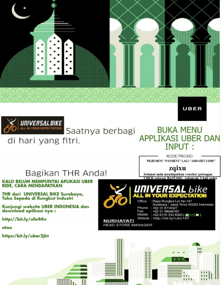 THR Lebaran UNIVERSAL bike di Surabaya Toko Sepeda Rungkut